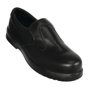 Click N Order photo of a Lites Safety Slip On Black 42