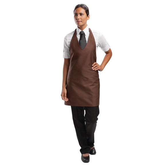 Click N Order photo of a Chef Works Tuxedo Bib Apron Chocolate