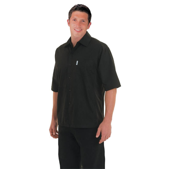Click N Order photo of a Chef Works Unisex Cool Vent Chefs Shirt Black L