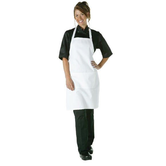Click N Order photo of a Chef Works Bib Apron White