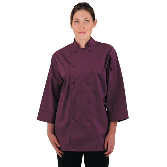 Click N Order photo of a Chef Works Unisex Chefs Jacket Merlot M