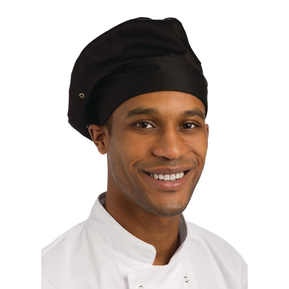 Click N Order photo of a Chef Works Toque Chefs Hat Black