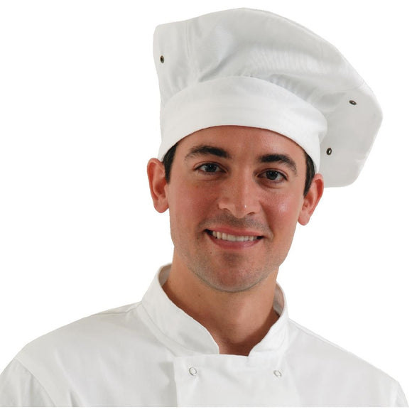 Click N Order photo of a Chef Works Toque Chefs Hat White