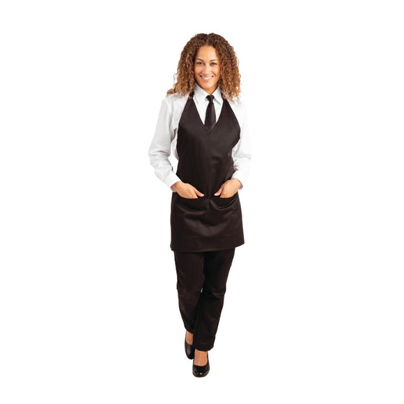 Click N Order photo of a Whites V Neck Service Apron Black