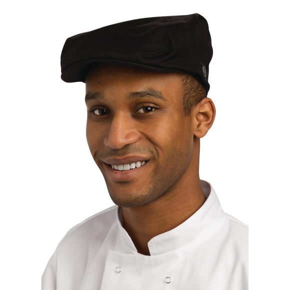 Click N Order photo of a Chef Works Flat Cap Black M