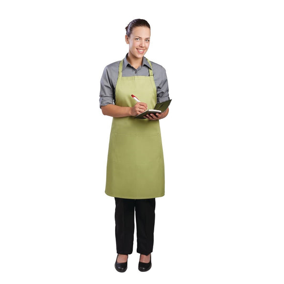 Click N Order photo of a Chef Works Bib Apron Lime
