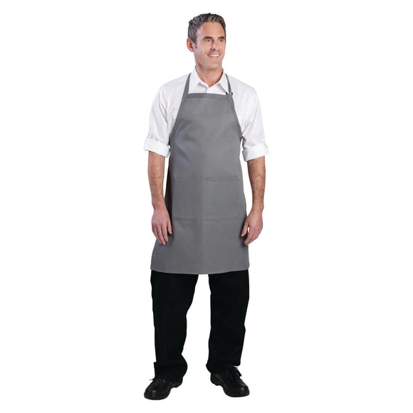 Click N Order photo of a Chef Works Bib Apron Grey