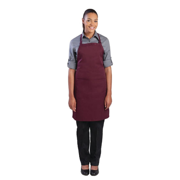Click N Order photo of a Chef Works Bib Apron Merlot