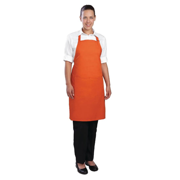 Click N Order photo of a Chef Works Bib Apron Orange