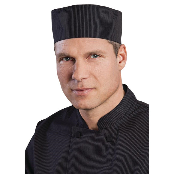 Click N Order photo of a Chef Works Cool Vent Pinstripe Beanie Hat