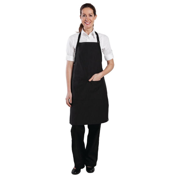 Click N Order photo of a Chef Works Bib Apron Pinstripe