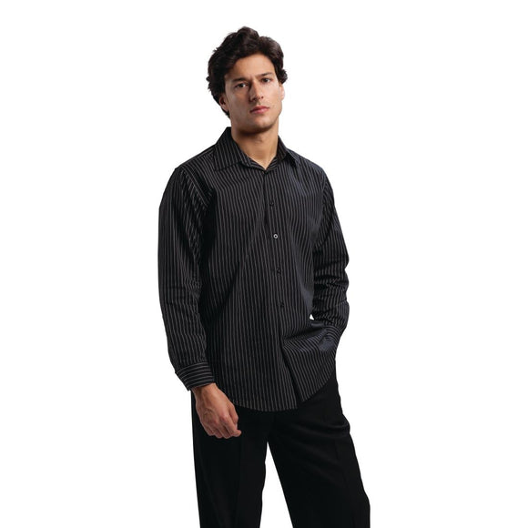 Click N Order photo of a Chef Works Long Sleeve Shirt Pinstripe L
