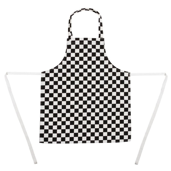 Click N Order photo of a Whites Childrens Bib Apron Big Black and White Check