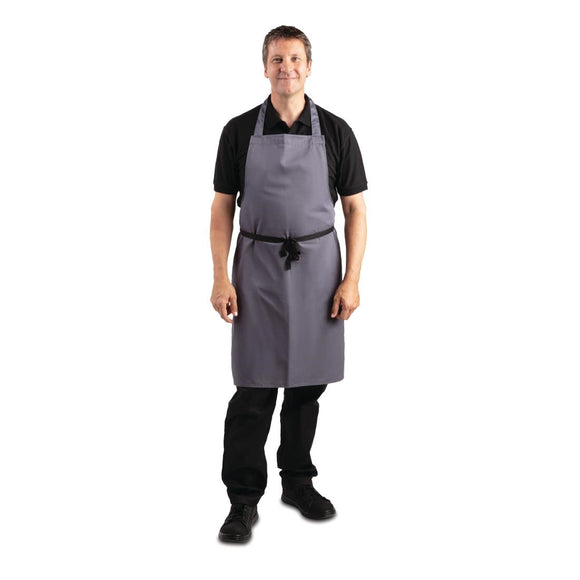 Click N Order photo of a Whites Polycotton Bib Apron Charcoal