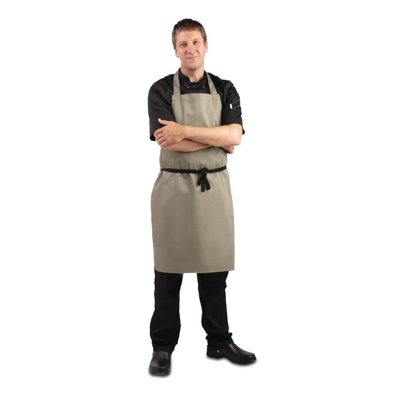 Click N Order photo of a Whites Polycotton Bib Apron Olive