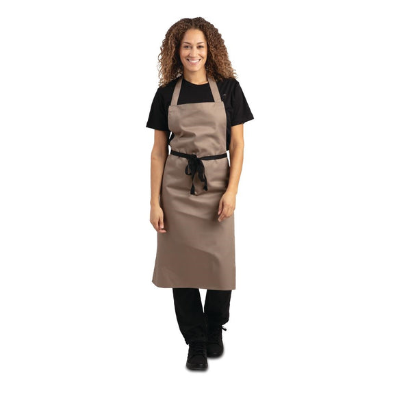 Click N Order photo of a Whites Polycotton Bib Apron Tan