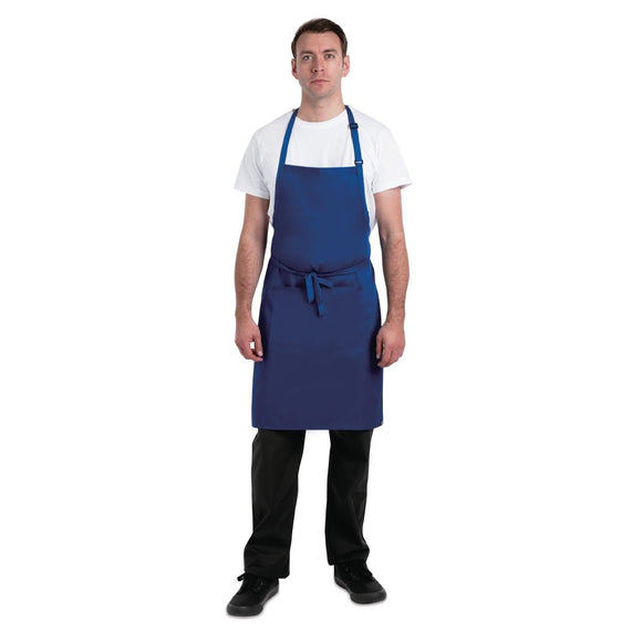 Click N Order photo of a Chef Works Butchers Bib Apron Royal Blue