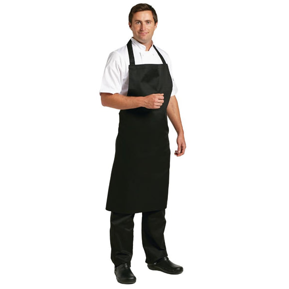 Click N Order photo of a Whites Polycotton Bib Apron Black XL