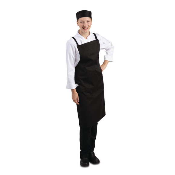 Click N Order photo of a Whites Southside X-Cross Back Bib Apron Black