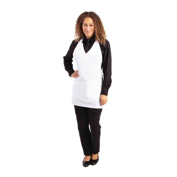 Click N Order photo of a Whites V Neck Service Apron White