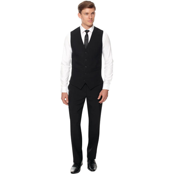 Click N Order photo of a Events Mens Black Waiting Trouser - Long Leg 50