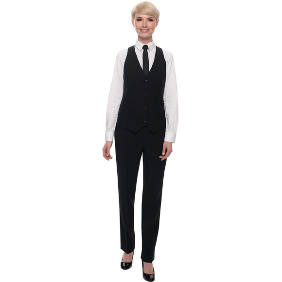 Click N Order photo of a Events Ladies Black Waiting Trouser - Size 8 Long leg