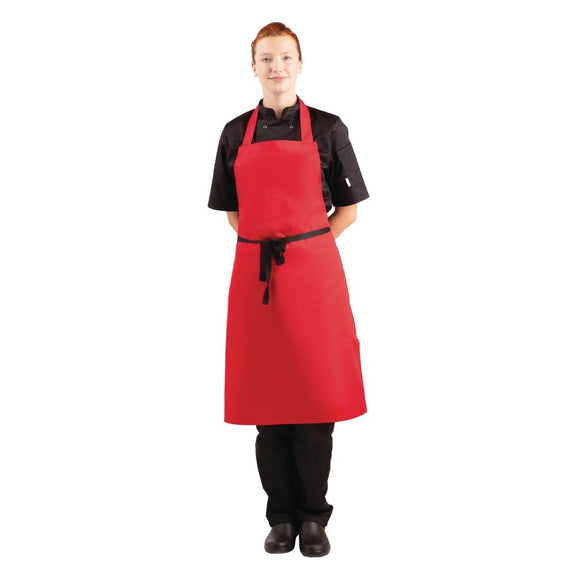 Click N Order photo of a Whites Bib Apron Red