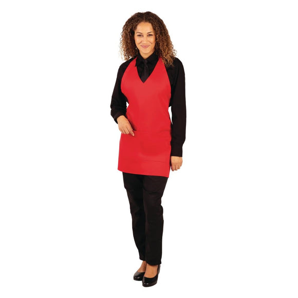 Click N Order photo of a Whites V Neck Service Apron Red