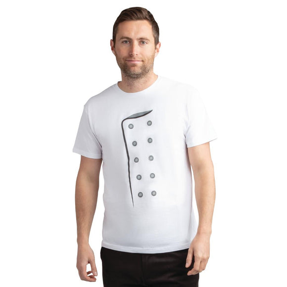 Click N Order photo of a Chef Printed T Shirt White - Size S