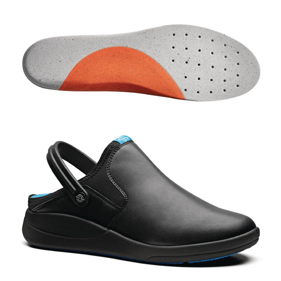Click N Order photo of a WearerTech Refresh Clog Black with Firm Insoles Size 39-40