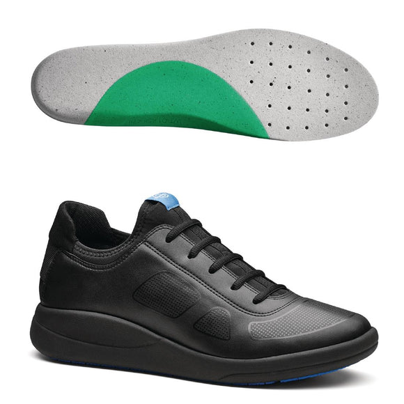 Click N Order photo of a WearerTech Transform Trainer Black with Medium Insoles Size 46