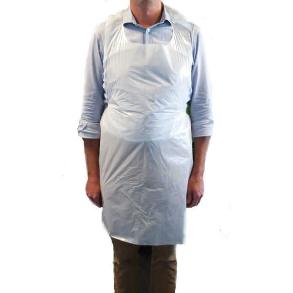 Click N Order photo of a Disposable Polythene Aprons White (Pack of 500)
