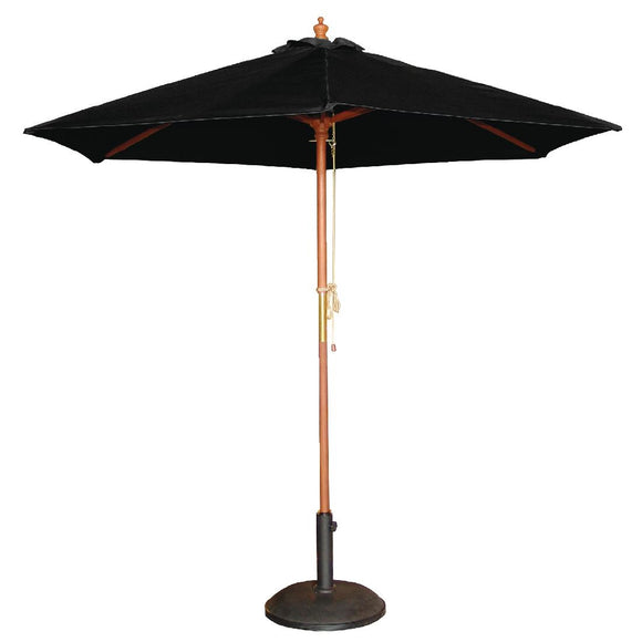 Click N Order photo of a Bolero Round Parasol 2.5m Diameter Black