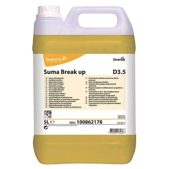 Click N Order photo of a Suma Break Up D3.5 Heavy-Duty Kitchen Degreaser Concentrate 5Ltr (2 Pack)