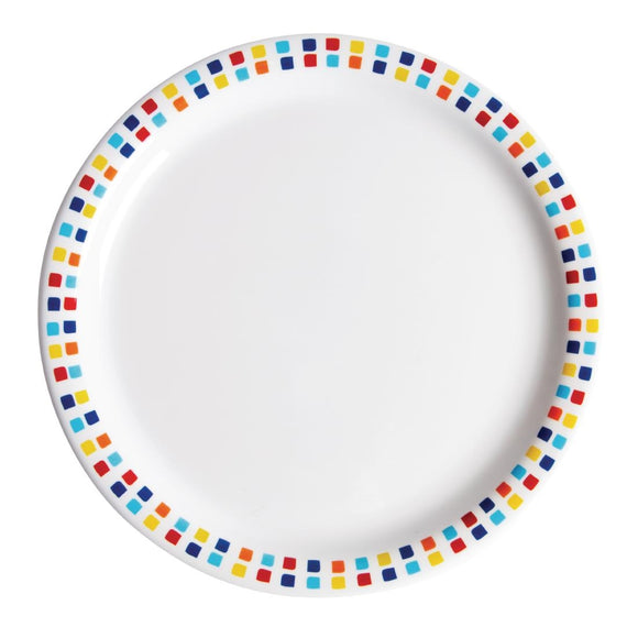 Click N Order photo of a Utopia Spanish Tile Dinner Plates 230mm (Pack of 48)
