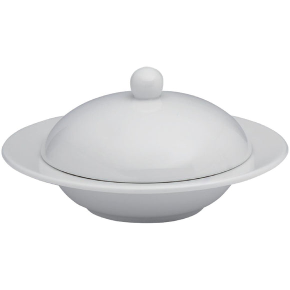 Click N Order photo of a Elia Glacier Fine China Covered Butter Dishes 115mm (Pack of 4)