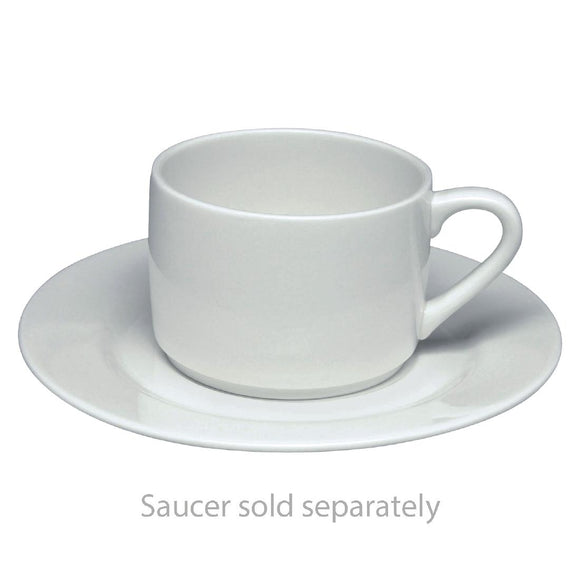 Click N Order photo of a Elia Glacier Fine China Stackable Tea Cups 240ml (Pack of 6)