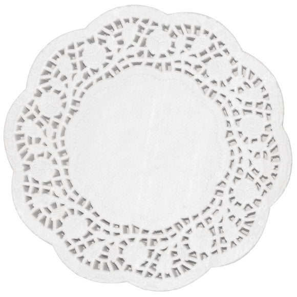 Click N Order photo of a Fiesta Round Paper Doilies 240mm (Pack of 250)