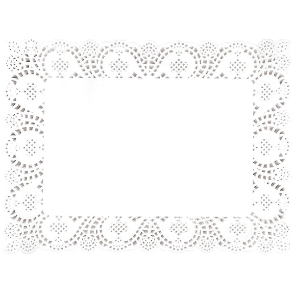 Click N Order photo of a Fiesta Rectangular Paper Doilies 400mm (Pack of 250)
