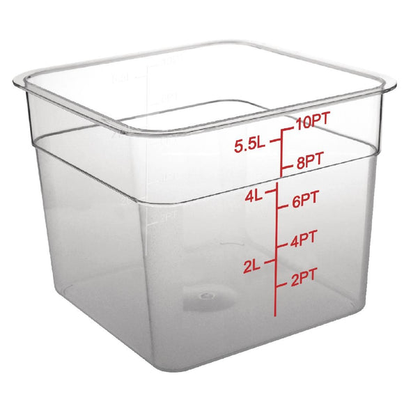 Click N Order photo of a Vogue Polycarbonate Square Storage Container 5.5Ltr