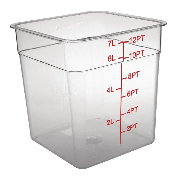 Click N Order photo of a Vogue Polycarbonate Square Storage Container 7Ltr