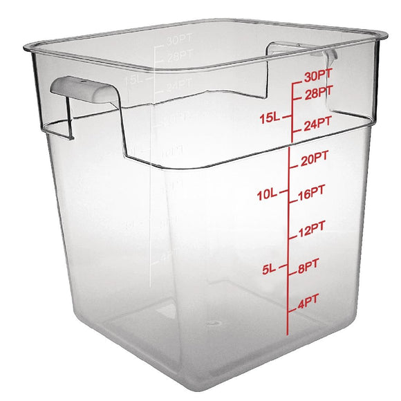 Click N Order photo of a Vogue Polycarbonate Square Storage Container 15Ltr