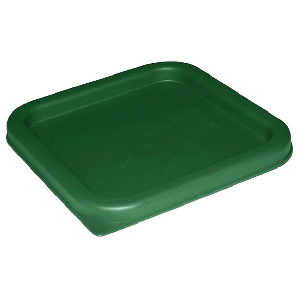 Click N Order photo of a Vogue Polycarbonate Square Food Storage Container Lid Green Small
