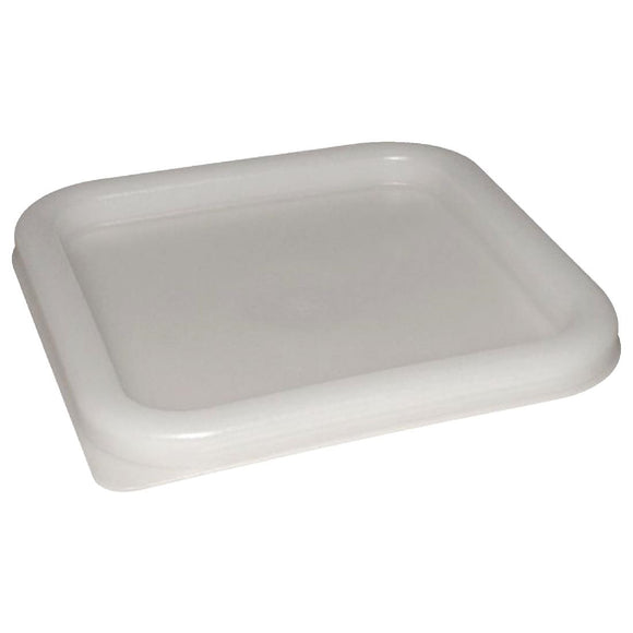 Click N Order photo of a Vogue Polycarbonate Square Food Storage Container Lid White Medium