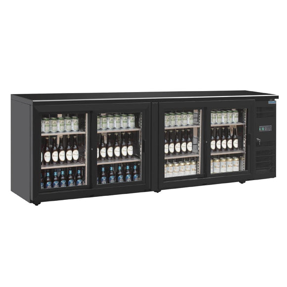 Click N Order photo of a Polar U-Series Four Door Back Bar Display Cooler
