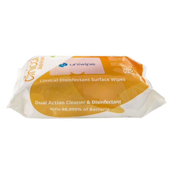 Click N Order photo of a Uniwipe Clinical Disinfectant Surface Wipes (Pack of 200)