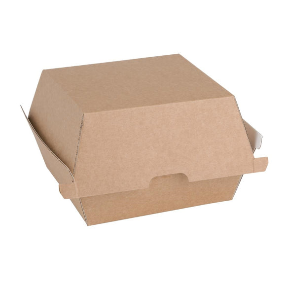 Click N Order photo of a Fiesta Green Compostable Kraft Burger Boxes Small 105mm (Pack of 200)