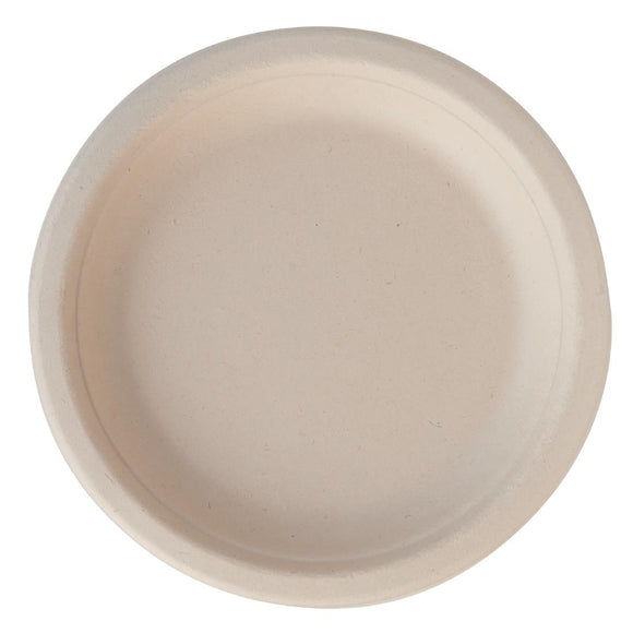 Click N Order photo of a Eco-Fibre Compostable Wheat Round Plates 180mm (Pack of 1000)