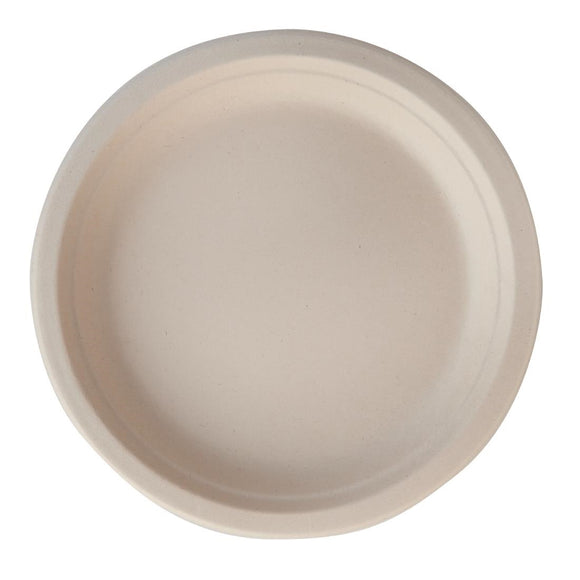 Click N Order photo of a Eco-Fibre Compostable Wheat Round Plates 230mm (Pack of 1000)
