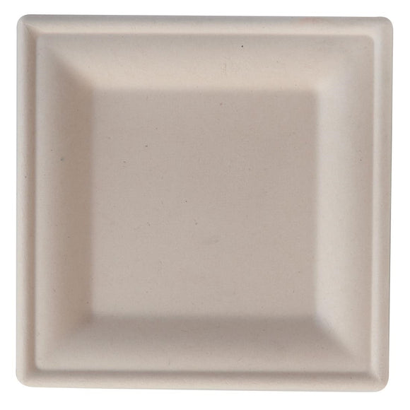 Click N Order photo of a Eco-Fibre Compostable Wheat Square Plates 200mm (Pack of 500)